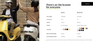 Ola Electric Scooter Booking Price