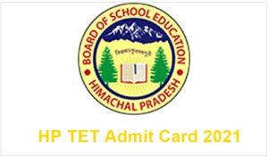 HP TET Admit Card 2021