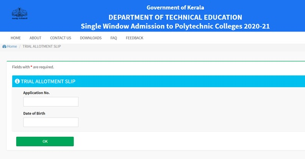 Kerala Polytechnic First Allotment Result 2021